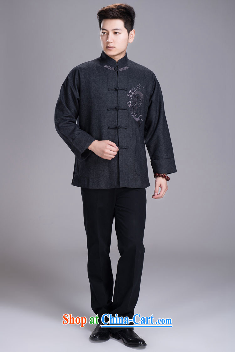 Yiu-lung Tang replacing men and even short sleeves with winter jackets, older hair that Tang with dark gray 185 / 104 (XXL) pictures, price, brand platters! Elections are good character, the national distribution, so why buy now enjoy more preferential! Health