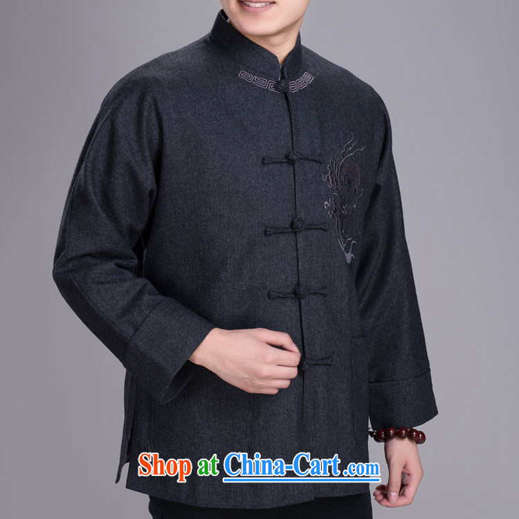 Yiu-lung Tang replacing men and even short sleeves with winter jackets, older hair that Tang with dark gray 185/104 (XXL)