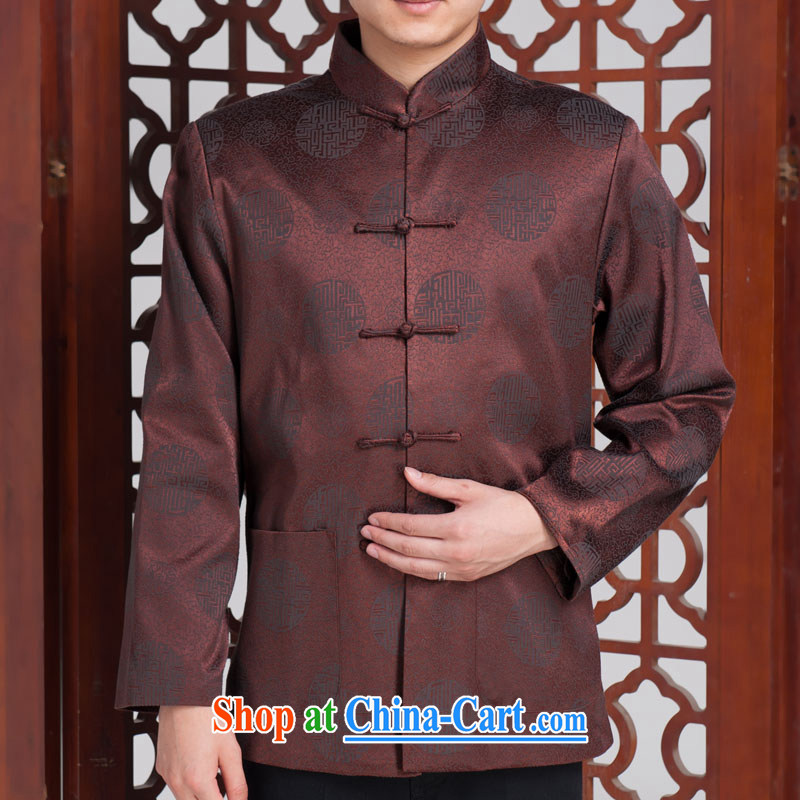 Jubilee 1000 Bok-su Man Tang replace older autumn and winter with long-sleeved brocade coverlets Tang jackets of red (winter clothes folder cotton) 185 / 104 A (XXXXL)