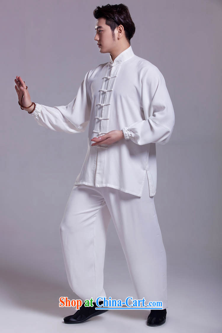 Tai Chi clothing Chinese clothing martial arts package summer white XXL