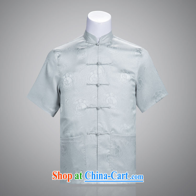 auspicious Chinese men's short-sleeve kit male Chinese package older Chinese clothing summer short-sleeve with a package price for 239 185 _100 _XXXL_