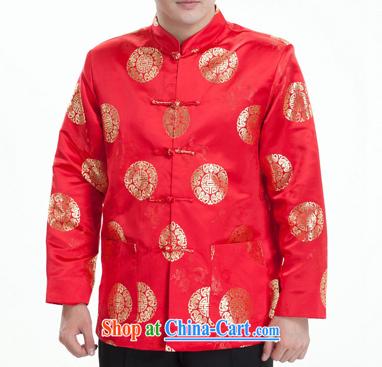 Park Hee-men's long-sleeved Tang replacing the older winter clothes mezzanine quilted coat Happy Birthday Tang Black/spring (mezzanine) 185 / 104 (XXXXL) pictures, price, brand platters! Elections are good character, the national distribution, so why buy now enjoy more preferential! Health