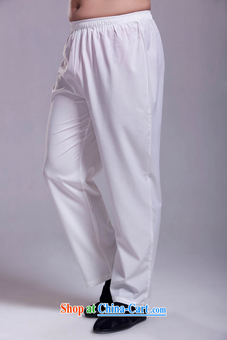Tang is packaged with trouser press 100 ground short pants light ice silk and cotton white XXXL