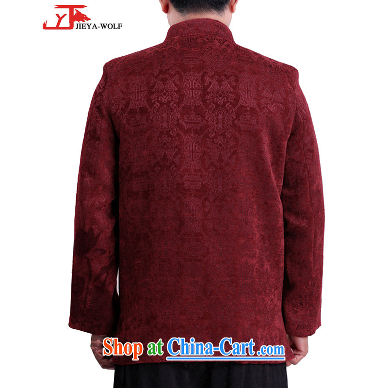 JIEYA - WOLF New Tang on men's long-sleeved winter cotton jacket men Tang with quilted coat fall/winter fashion casual shirt 0,071,339 red 165/S, JIEYA - WOLF, shopping on the Internet