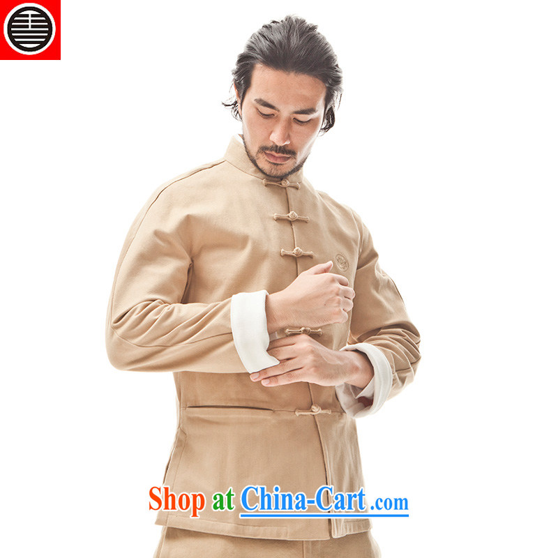 Take Your Excellency's style in a new 9-Color deer Chinese style men's T-shirt trend loaded with pure cotton stretch Sau San Tong with white tea - only T-shirt XL, Sheng (HUSENJI), online shopping