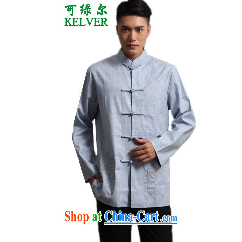 To Green, the older fall and winter fashion new products and the adoption of Ethnic Wind Single Row buckle embroidered mother load Tang jackets - 1 3 XL