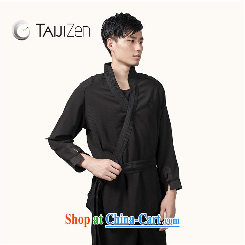 TAIJIZEN Tai Chi retreat 2014 new Autumn and Winter Fashion Tai Chi uniforms men's long-sleeved black cloud the jacket black XXL