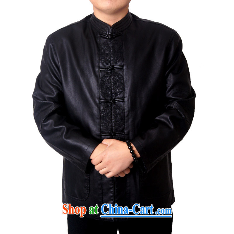 Package-ying, Mr Rafael Hui, and replace the collar high quality thick leather jacket and a leather Chinese Chinese, for Chinese PU jacket 818 black 190