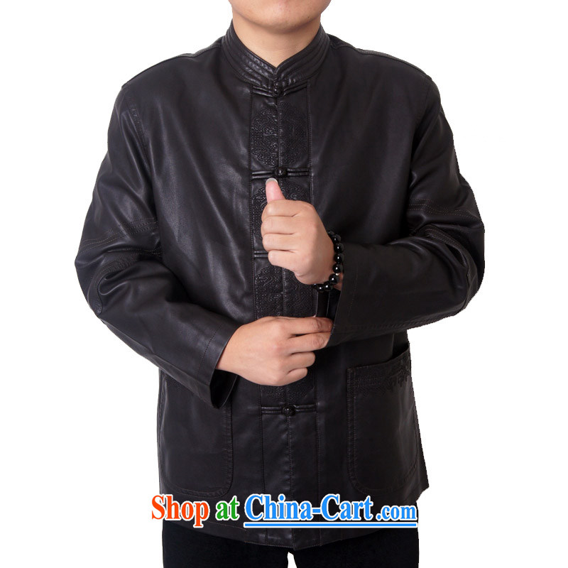 Package-ying, Mr Rafael Hui, and replace the collar high quality thick leather jacket and a leather Chinese Chinese, for Chinese PU jacket 818 black 190, the British Mr Rafael Hui (sureyou), shopping on the Internet