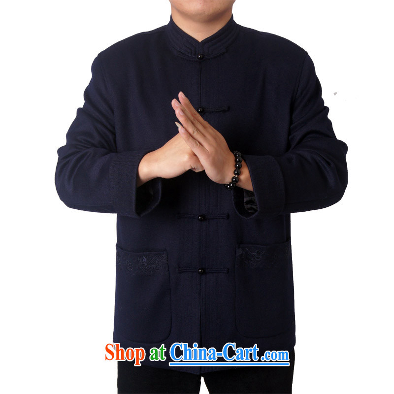 The British, Mr Rafael Hui, in the autumn and winter with Chinese men and upscale jacket wool Chinese, for Chinese Birthday birthday gift 14,012 /14,015 14,015 dark blue 190