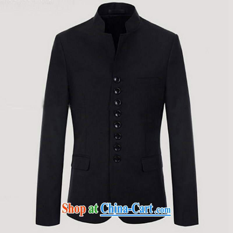 Dan Jie Shi 2014 autumn and winter, China wind retro 8 snap the collar smock wore long-sleeved black XXL 120 to 130 jack