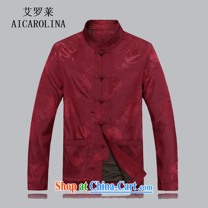 The Honorable Henry Tang, the elderly in autumn and the men's long-sleeved jacket, for Chinese men and grandfather with the Code and red jacket M
