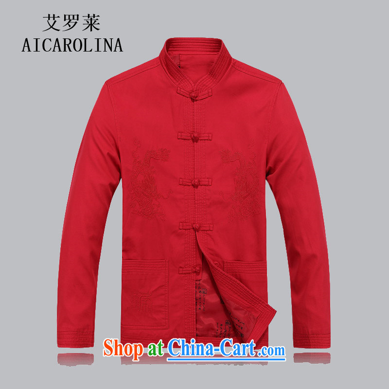 The Adelaide Man Tang with autumn and winter in long-sleeved older Bok-su Tang jackets jackets, uniforms, for Chinese red XL
