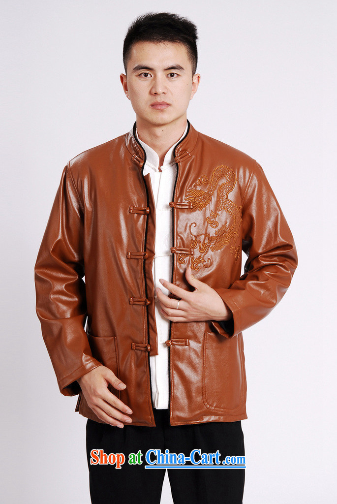 An Jing Tang replacing men long-sleeved jacket Tang fitted T-shirt men's leather jacket water marten hairs Tang with leather jacket and lint-free cloth yellow XXXL pictures, price, brand platters! Elections are good character, the national distribution, so why buy now enjoy more preferential! Health