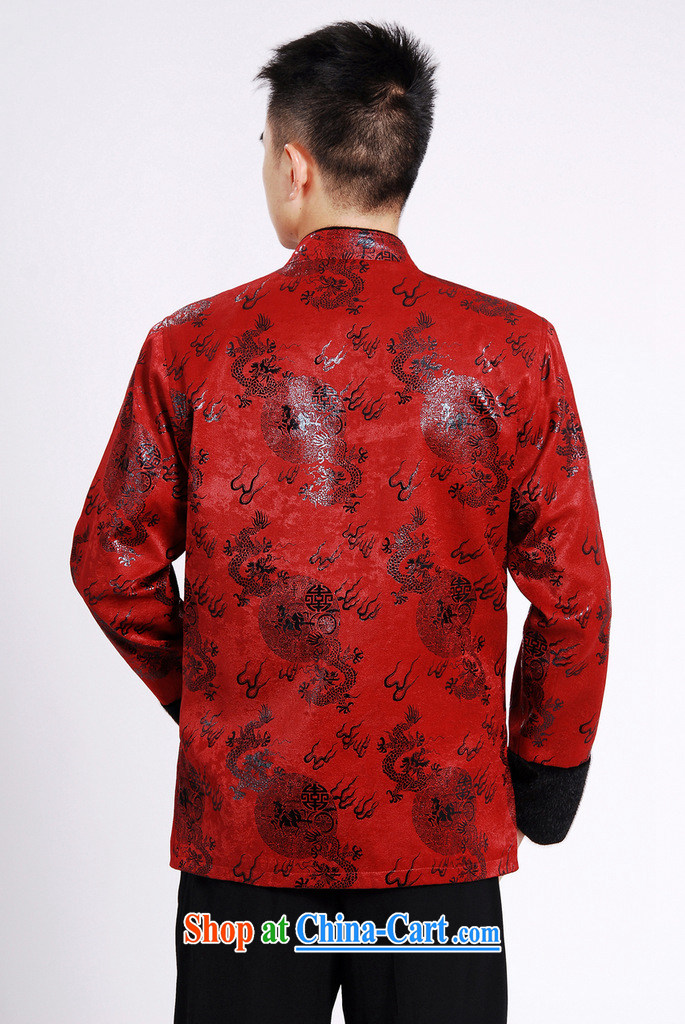An Jing men's jacket water marten hairs Tang with the lint-free Chinese men's long-sleeved jacket Chinese Dragon Chinese T-shirt wine red XXXL pictures, price, brand platters! Elections are good character, the national distribution, so why buy now enjoy more preferential! Health