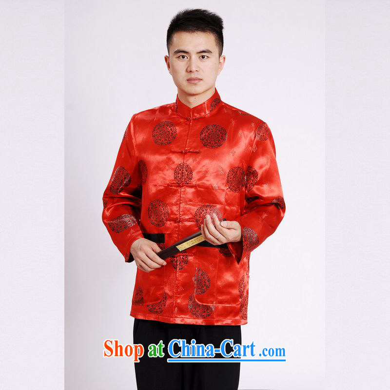 Jing An older Chinese, for Chinese wind dress the life jackets wedding service performance service Chinese men and chinese red XXL, an Jing, shopping on the Internet
