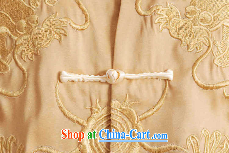 An Jing Chinese men's long-sleeved dress men Tang jackets, for embroidery Chinese dragon yellow XXXL pictures, price, brand platters! Elections are good character, the national distribution, so why buy now enjoy more preferential! Health