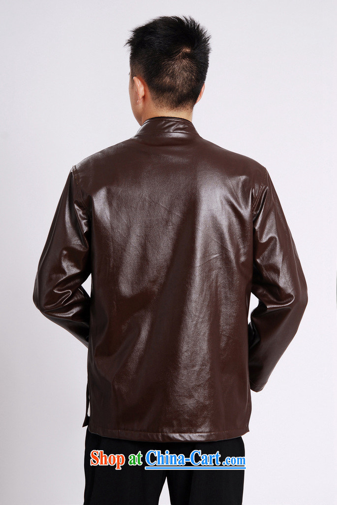 And Jing Ge Chinese men long-sleeved jacket with short T-shirt men's leather jacket water marten hairs Tang with leather jacket and lint-free cloth yellow XXXL pictures, price, brand platters! Elections are good character, the national distribution, so why buy now enjoy more preferential! Health