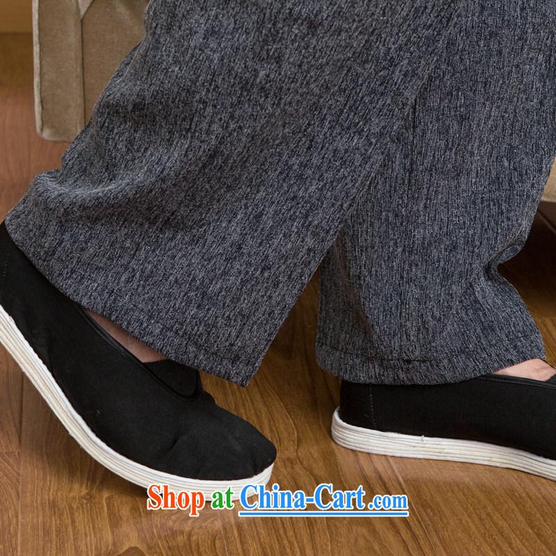 An Jing tang on men's long-sleeved jacket, collar cotton linen Tang replacing kit T-shirt Kung Fu Tai Chi Kit Kit - 3 Kit XXL, an Jing, shopping on the Internet