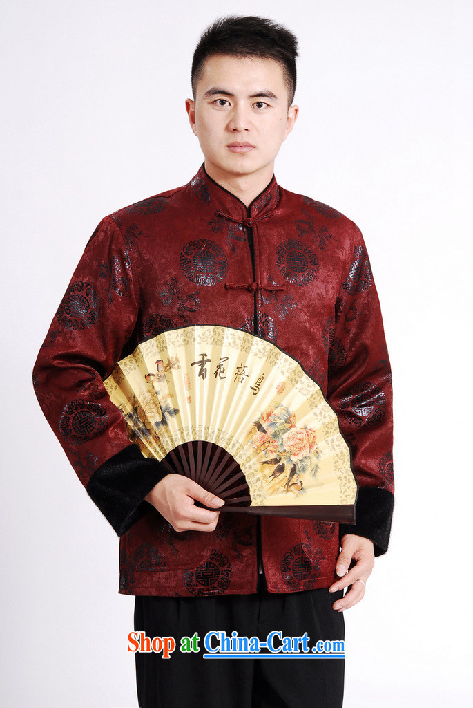 And Jing Ge Chinese men long-sleeved jacket Tang Replace T-shirt men's jacket water marten hairs Tang with the cotton Thick Red XXXL pictures, price, brand platters! Elections are good character, the national distribution, so why buy now enjoy more preferential! Health