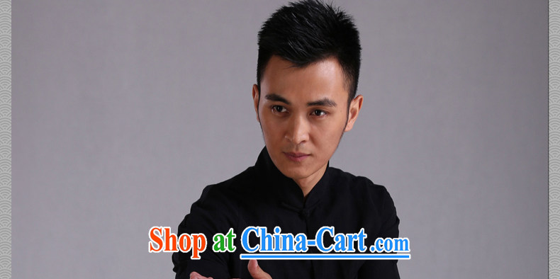 Only 3 Chinese wind Hak Ming Day, MA-tie long-sleeved T-shirt Chinese casual linen and cotton the Chinese shirt and trendy Black Movement (XXL) pictures, price, brand platters! Elections are good character, the national distribution, so why buy now enjoy more preferential! Health