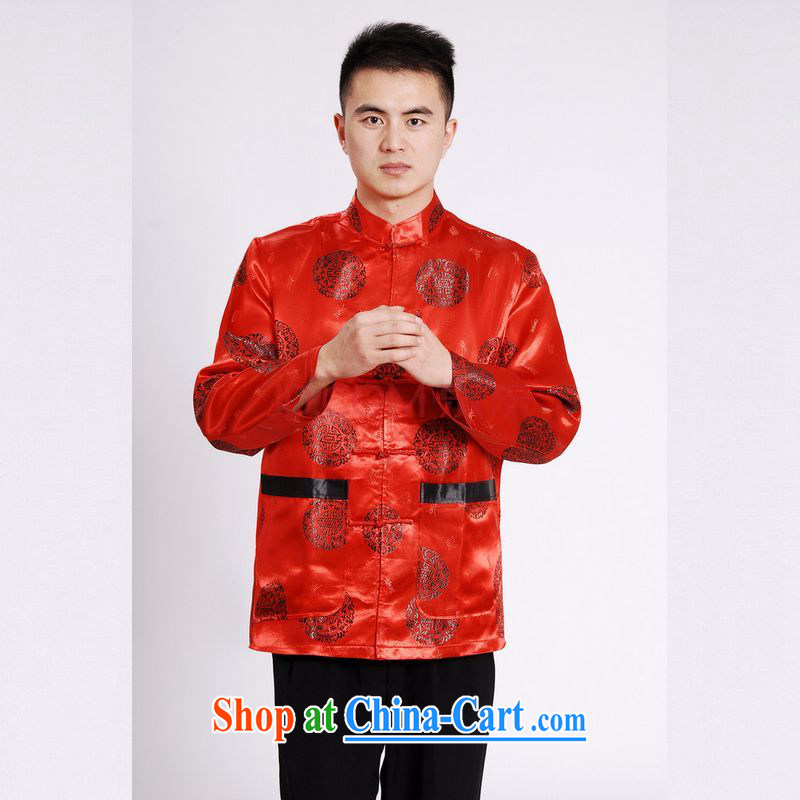 The frequency in older Chinese, for Chinese wind dress the life jackets wedding service performance service Chinese men and chinese red XXL