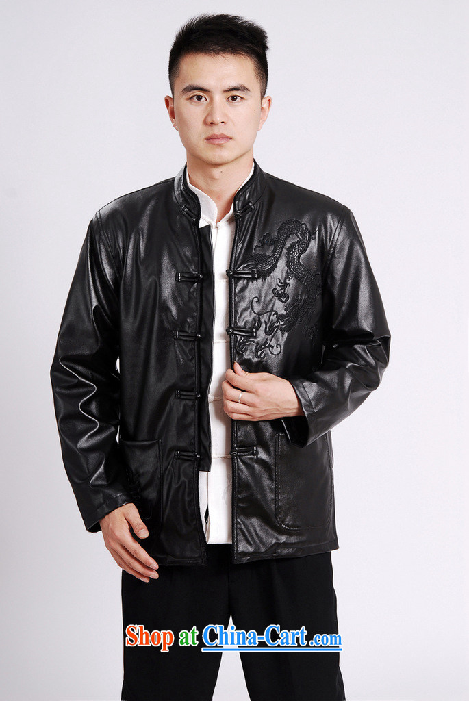 The frequency band Tang with men's long-sleeved jacket Tang fitted T-shirt men's leather jacket water marten hairs Tang with leather jacket and lint-free cloth yellow 3XL pictures, price, brand platters! Elections are good character, the national distribution, so why buy now enjoy more preferential! Health