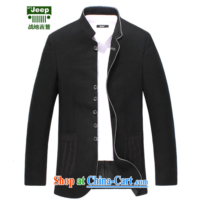 The AFS jeep Afs Jeep suit Male smock, for cultivating wool that suits Leisure Suit Chinese jacket Large, black 52 165 recommended that Jack left
