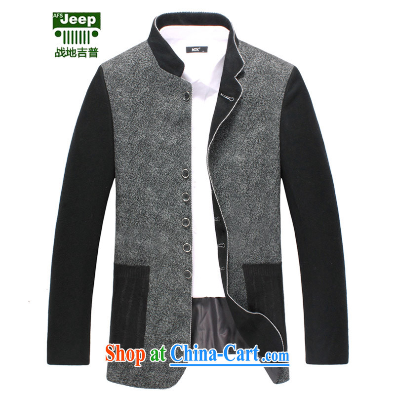 The AFS jeep AFS JEEP smock wool? Leisure Suit jacket men's woolen, overcome the collar suits men's leisure large code jacket gray 56 195 recommended that Jack left