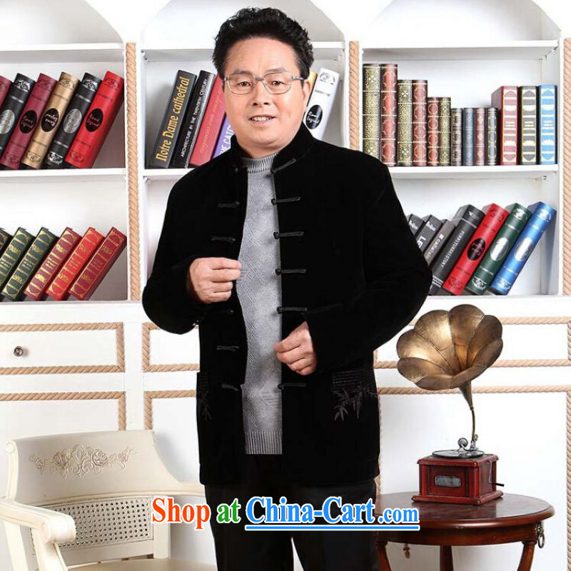 He Jing Ge men Tang with long-sleeved jacket, older, for Chinese men wool parka brigades
