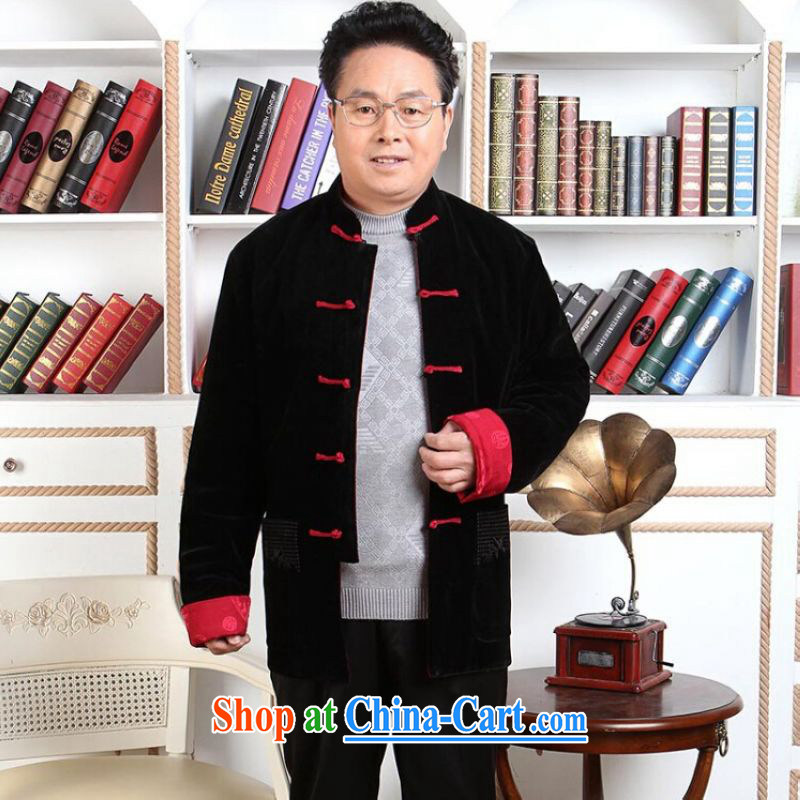 He Jing Ge men Tang with long-sleeved jacket, older Chinese men's parka brigades