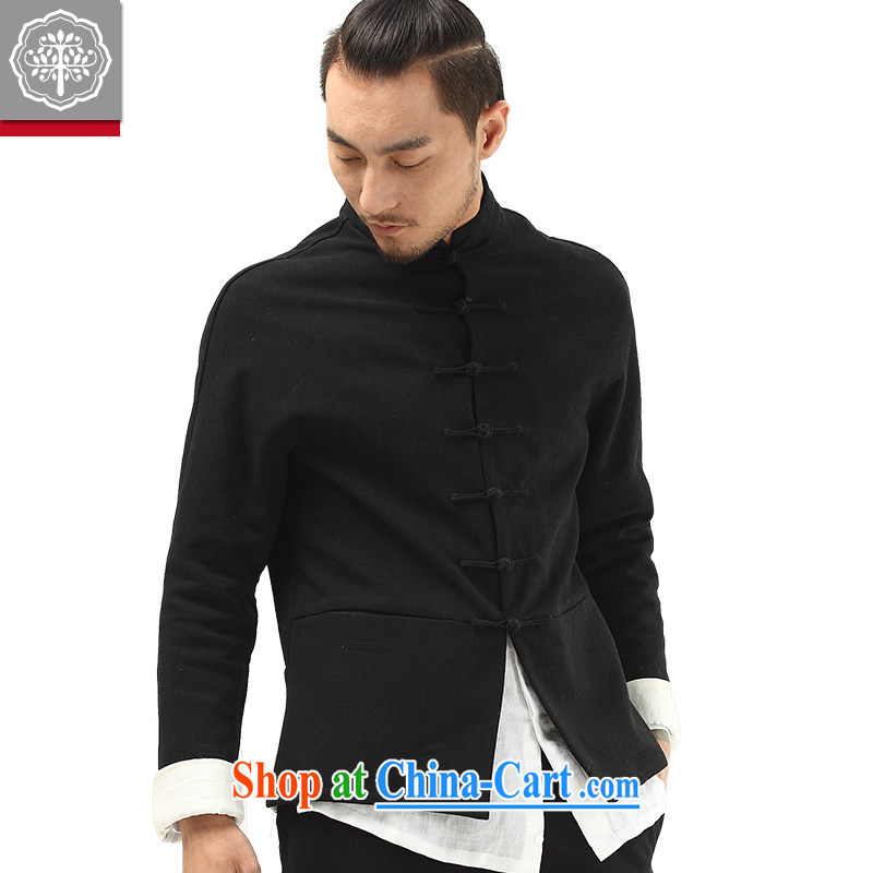 To tree Chinese style Chinese men Han-improved Chinese men's autumn and winter the cotton jacket and lint-free cloth thick Hyun-color jumbo/180