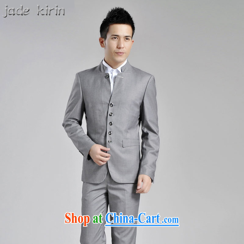 Autumn and Winter, male and a collar small suit Korean smock male and casual suit jacket men's beauty and professional performance service 161,902 PT gray 1619 180_XXL