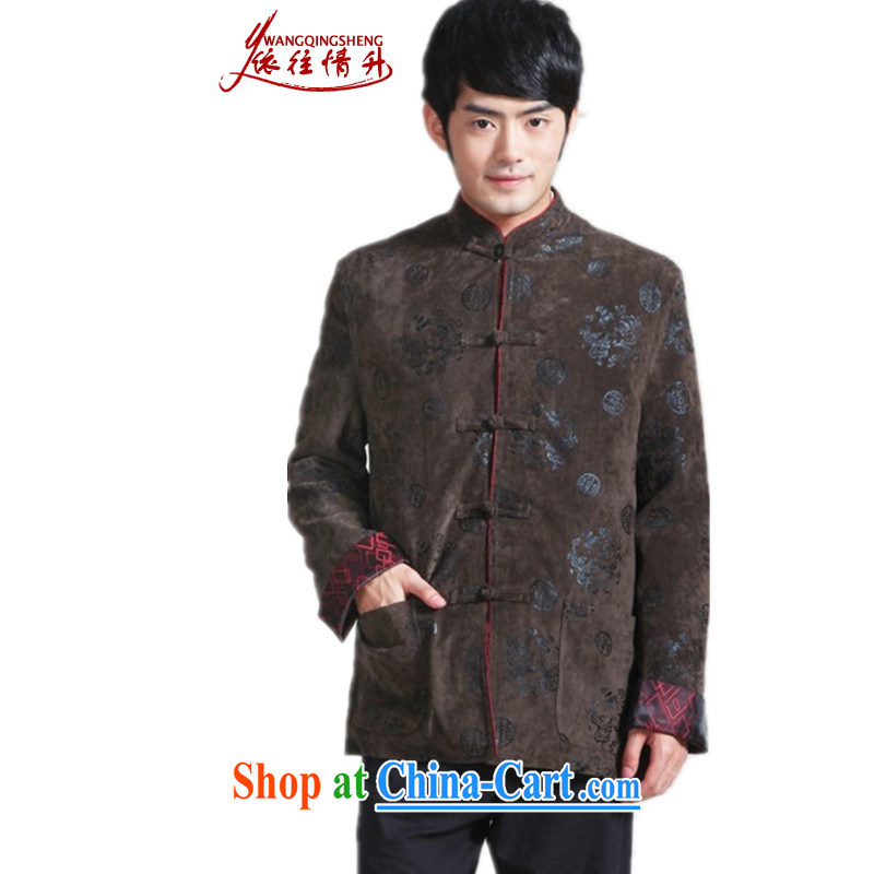 In accordance with the situation in the autumn and winter fashion new products and the adoption of hard-pressed suit father single-buckle Tang with quilted coat - 3 3 XL