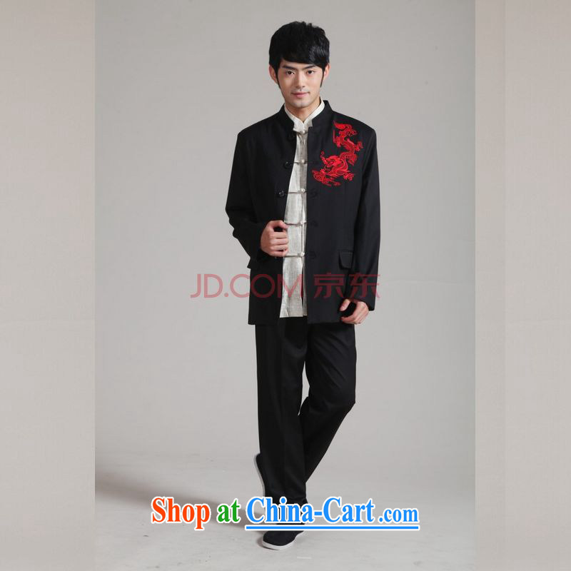 The frequency and smock, for Korean Beauty suit coats the groom wedding dress Kit - 2 black 3 XL