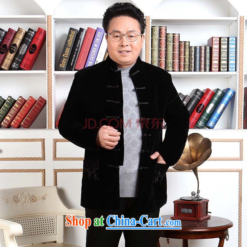 The band men's Tang with long-sleeved jacket, older, for Chinese men wool parka brigades