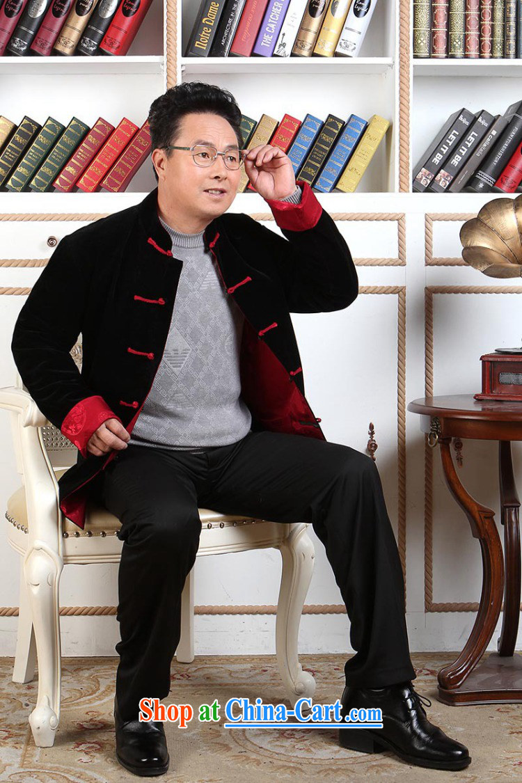 The band men's Tang with long-sleeved jacket, older Chinese men's parka brigades