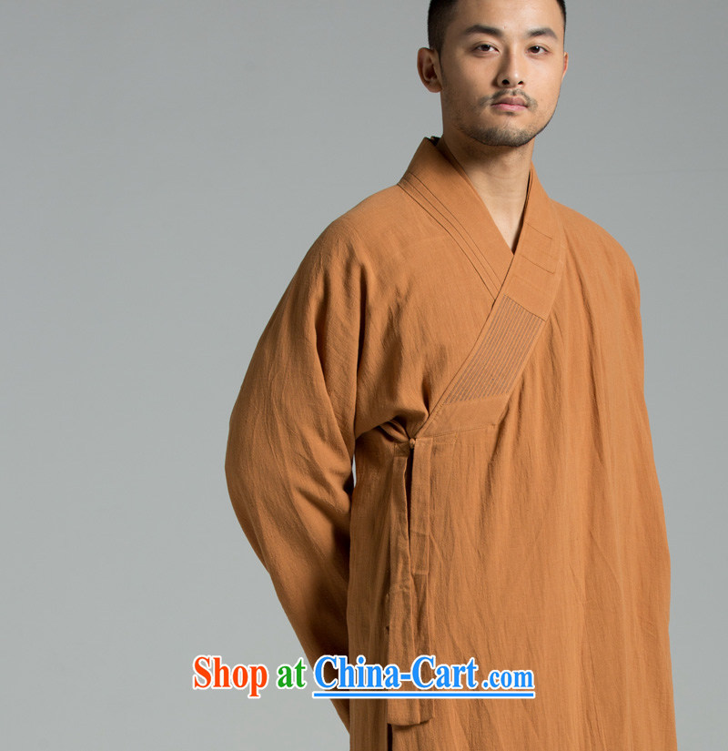 Cotton Ma - Buddhism/meditation Thailand summer cool washable cotton yarn monks serving the use 01 YXS Buddhist Wong brown 180/96 (XL)