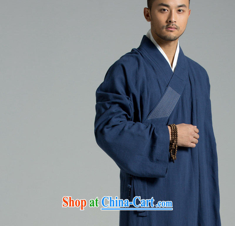 Cotton Ma - Buddhism/meditation Thailand summer cool washable cotton yarn monks serving the YXS use 01 - 308 dark blue 2 XL
