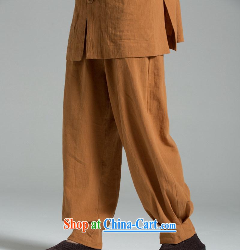 Cotton Ma - meditation_cynosure serving Thai summer cool washable cotton meditation pants YHF 008 Buddhist Wong brown 2 XL _3 days_