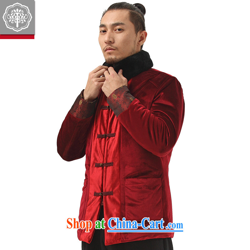 tree and Chinese wind male Chinese improved Han-Chinese men's thick cotton clothing and winter quilted fabrics and wooden red campaign
