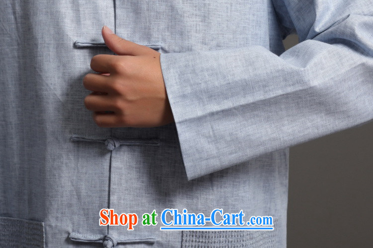Cotton Joseph Tang replacing men long-sleeved jacket, collar Ethnic Wind Han-tang - 3 XXXL pictures, price, brand platters! Elections are good character, the national distribution, so why buy now enjoy more preferential! Health