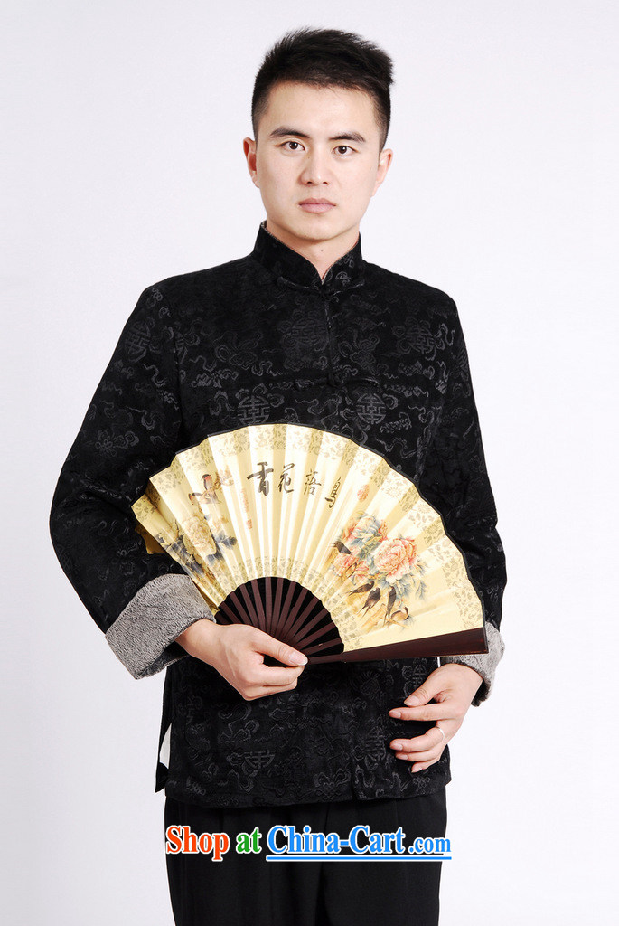 Cotton Joseph Tang replacing men's long-sleeved jacket Tang fitted T-shirt men's jackets Tang replacing the cotton thick black XXXL pictures, price, brand platters! Elections are good character, the national distribution, so why buy now enjoy more preferential! Health