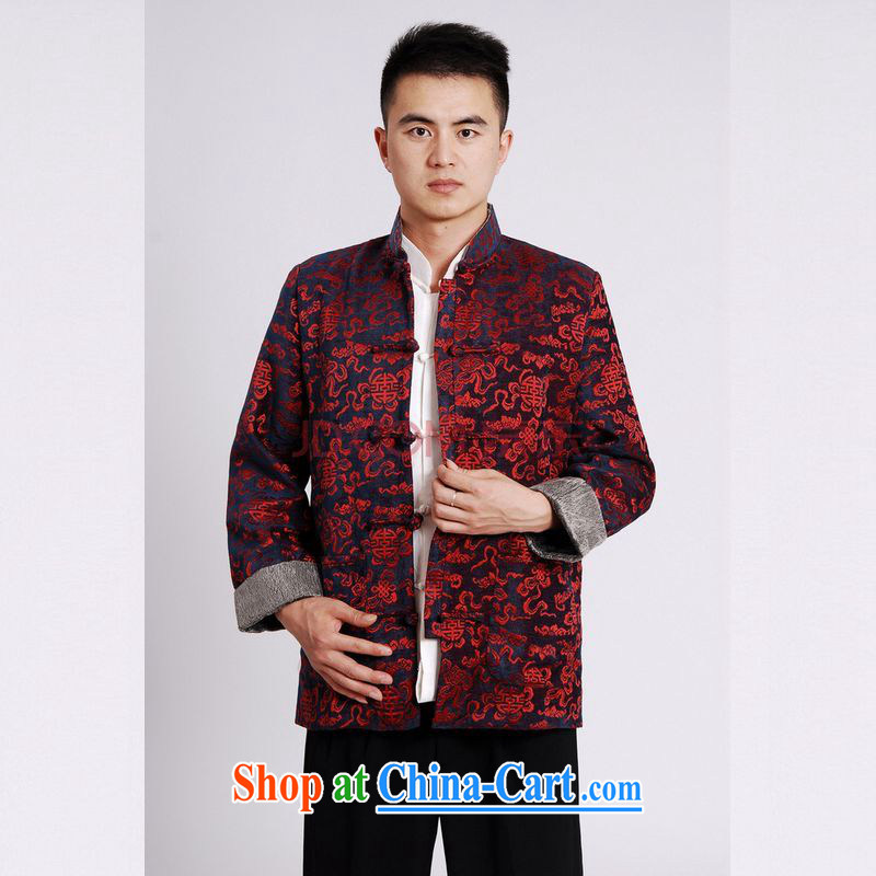 Cotton Joseph Tang replacing men long-sleeved jacket Tang fitted T-shirt men's jackets Tang on the cotton thick black XXXL, Joseph cotton, shopping on the Internet