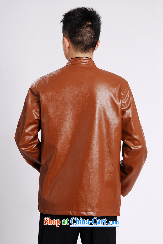 Cotton Joseph Tang replacing men long-sleeved jacket Tang fitted T-shirt men's leather jacket water marten hairs Tang with leather jacket and lint-free cloth brown XXXL pictures, price, brand platters! Elections are good character, the national distribution, so why buy now enjoy more preferential! Health