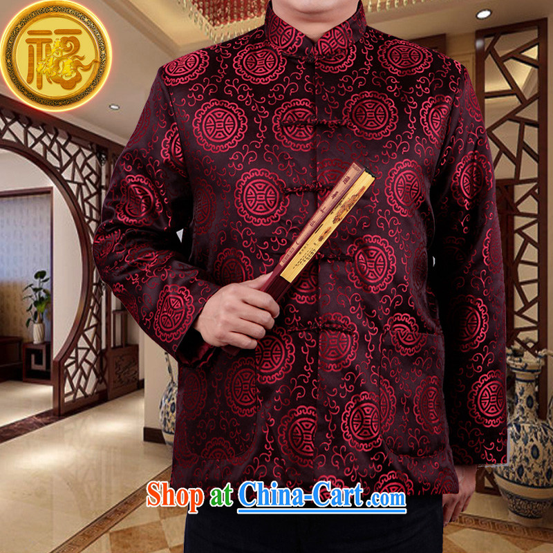 Federation, Mr Tang poetry with men and older men and Chinese Spring and Autumn 2015 New Tang replacing manual tray snap national costumes, Chinese for Chinese T-shirt jacket mauve 190_XXXXXL