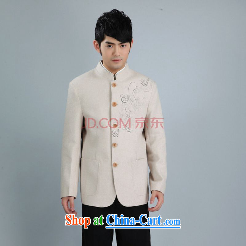 Joseph Cotton Men's smock jacket and collar wool? Tang jackets men Tang with long-sleeved jacket white XXXL