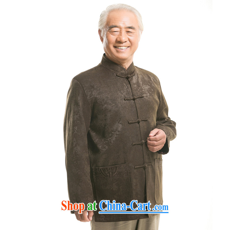 1451 F new genuine elderly in fall and winter and Chinese, for Tang jackets manual tray for large numbers of Chinese green tea, winter XXXL_190