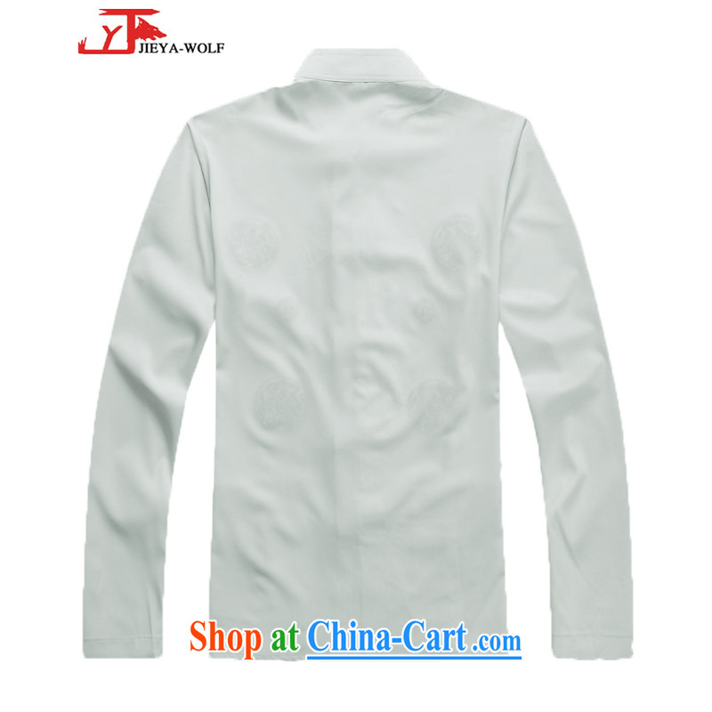 Cheng Kejie, Jacob - Wolf JIEYA - WOLF new kit Tang on men's long-sleeved spring loaded men Tang replace Kit stylish leisure park, thin white a 165/S, JIEYA - WOLF, shopping on the Internet
