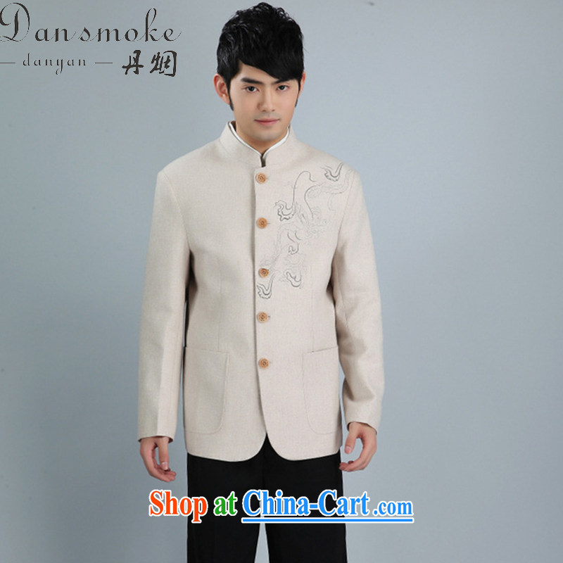 Bin Laden smoke-free fall and winter New Men Tang replace Generalissimo, for Korean wool suits clothing Chinese Dress Suit - 4m White 3XL